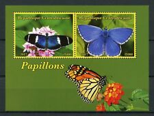 Central African Republic 2017 CTO Butterflies 2v M/S II Insects Butterfly Stamps