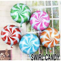18 inch Swirl Candy Lollipop wedding party birthday Helium foil Balloon decor UK