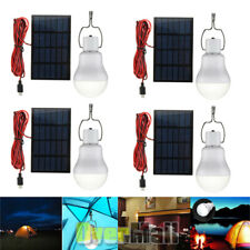 Portable Solar Powered 12 LED Rechargeable Bulb Light White Outdoor Camping Yard