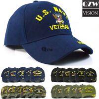 US Military Tactical Army Navy Marine Air Veteran Adjustable Baseball Cap Hat