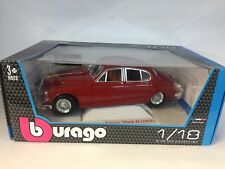 burago red mark II jaguar 1959 car 1.18 scale diecast model 18-12009