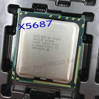 Intel Xeon X5687 CPU 3.6GHz 12MB Cach 6.4 GT/s LGA1366 Quad Core Processor SLBVY