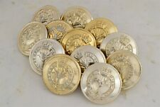 12x 26MM ~ Vintage British Army Welsh Guards Military Uniform/Coat/Tunic Buttons