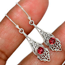 Garnet - Madagascar 925 Sterling Silver Earrings Jewelry AE152522 178V