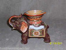 Vintage Moriage Satsuma Elephant Ash Tray Ashtray cigarette holder