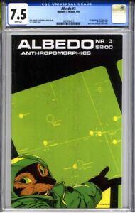 ALBEDO #3 CGC 7.5 (1st print, 2nd Usagi Yojimbo appearance) 1985