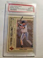 1999 Upper Deck Derek Jeter Textbook Excellence LE 696/2000 NY Yankees PSA 9