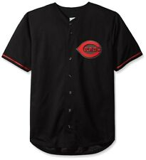 Cincinnati Reds MLB Mens Majestic Black Fashion Jersey Big Sizes 4XL