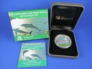 2012 PERTH MINT COIN SHOW SPECIAL - ANDA - SHARK BAY - 1oz Silver Proof Coin