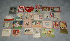26 different 1920's-1930's Art Deco Flapper Girl examples Usa Valentines