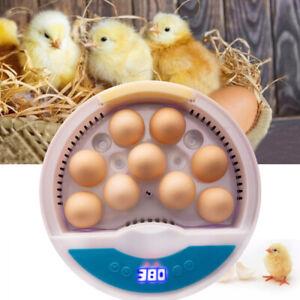 Digital 9 Eggs Incubator Farm Duck Chicken Hatcher LED Light Temperature Control