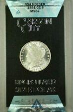 1881-CC GSA Hoard Morgan Silver Dollar $1 Coin ANACS MS-64 with Box & COA (B)