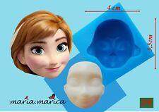 Silikonform silicone mold (230) doll head Anna 3D mold cake fondant sugarcraft