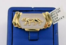 14k Two Tone Gold Panther Slide Pendant, 11.2gm, S103497