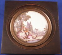 Antique 18thC Meissen Porcelain Scenic Plaque Porzellan Bild Scene German
