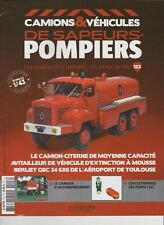 n° 123BERLIET GBC 34 Camion POMPIERS de TOULOUSE BLAGNAC FASCICULE BOOKLET