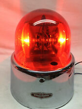 Vintage Police Ambulance Red Dome Light - Saf T Ray Dominion Auto Model 357 12v