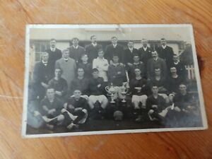 Social History Street Football Club 1907-8 Somerset team photo with cup