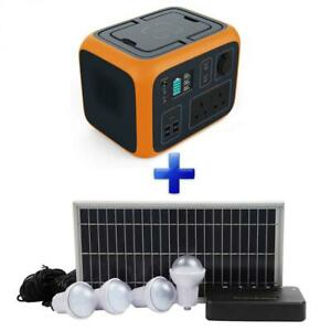 POWEROAK Portable Power AC50S 500Wh Generator AC/DC + Solar Lighting Kit