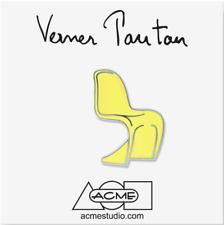 "ACME Studio ""Panton Chair Yellow"" Pin by Verner Panton NEW"