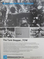 9/1982 PUB EMERSON DEFENSE SYSTEMS TOW MISSLE GROUND LAUNCHER SYSTEM ORIGINAL AD
