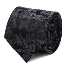 Batman NECKTIE Black COMIC DC Comics 100% Silk Mens