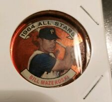 1964 **BILL MAZOSK** ALL STARS! PITTSBURGH  PIRATES #143 TOPPS COIN! USED.