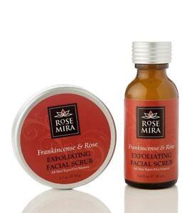 New Rosemira 100 % Organic Rose Exfoliating Facial Scrub for Dry, Mature Skin