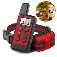 Recharge Vibration Anti-bark Dog Pet Training Collar 500m Remote Control 3 Mode