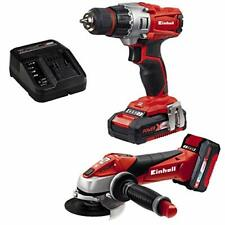 Einhell Cordless Drill and Angle Grinder Set with Rechargeable Battery & Charger