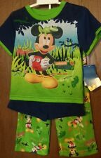 MICKEY Mouse Boy's 3T Pajamas 3 piece Set NeW Shirt Shorts Pants Disney FROG Nwt