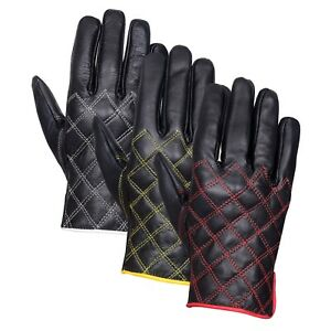 Men's Real Leather Winter Fashion Dressing Driving Slim Fit Style Gloves