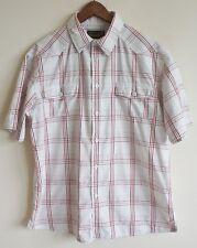 Wrangler mens summer shirt, XL, check, white, great condition