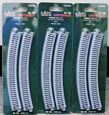 LOT of 3 - N Scale KATO UNITRACK 20-140 Curved Track R381-30* 4 Pieces per Pack