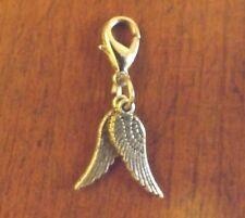 charms argentée 2 ailes d'ange 18x5 mm