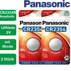 2 x Panasonic CR2354N CR 2354 N mit Absatz Lithium 3 V Batterie Blister 560mAh