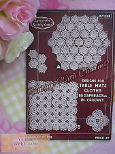 Vintage 30s Crochet Pattern For Table Mats, Bedspreads, Cloths etc. FREE UK P&P