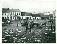 1914 World War I German and Austrians Evacuate Original News Service Photo