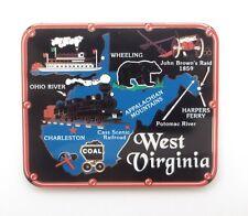 West Virginia State Magnet Brass Landmarks Travel Souvenir Gift