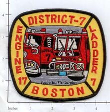 Massachusetts - Boston Engine 17 Ladder 7 District 7 MA Fire Dept Patch v2