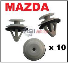 10 X Funda alféizar de moldeo por Puerta Lateral Mazda Falda Recortar Clips Laterales Con Sellador