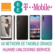 HUAWEI P20 Pro P20 P10 Lite P9 Lite Mate 10 Y7 UNLOCK CODE UK EE TMOBILE ORANGE