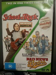 SCHOOL OF ROCK + BAD NEWS BEARS 2-Disc set DVD (JACK BLACK)
