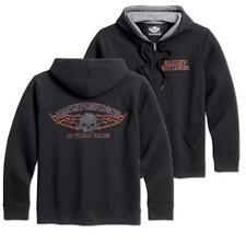 "Harley Davidson Kapuzenjacke Burning Skull leichtes (Größe L/42"" -45"") 99002-16VM"