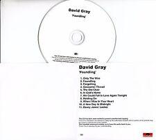 DAVID GRAY Foundling 2010 UK 11-trk watermarked promo test CD