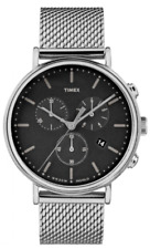 Timex Fairfield Chronograph black dial stainless steel watch TW2R61900 Sale