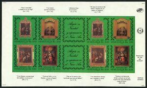 VENEZUELA #1396 Proof SPECIMEN Sheetlet Latin America Stamps Postage 1987 MNH NG