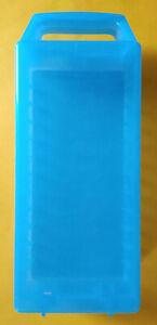 Valigetta Porta Musicassette Plastica Azzurra 12 Posti Usata Originale Vintage