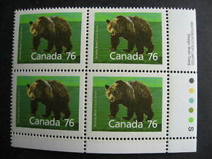 Canada Grizzly Bear Ut 1178i MNH plate block, lower right corner