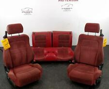 1992 Dodge Stealth Front & Back Seats Red X94 Leather Cloth Manual Minor Damage
